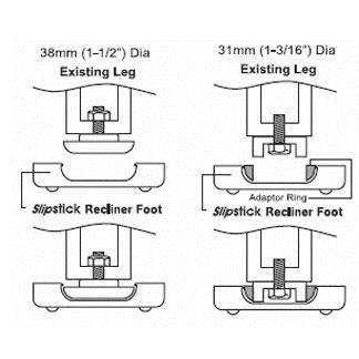 Slipstick Recliner Foot Diagram